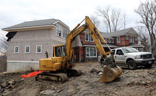 A home under construction in Irvington Dec. 17, 2018.