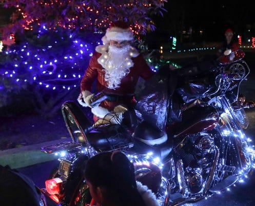 Motorcycle Santa