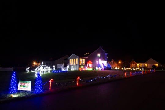 Christmas lights display at 32941 Sandstone Drive in Lewes.