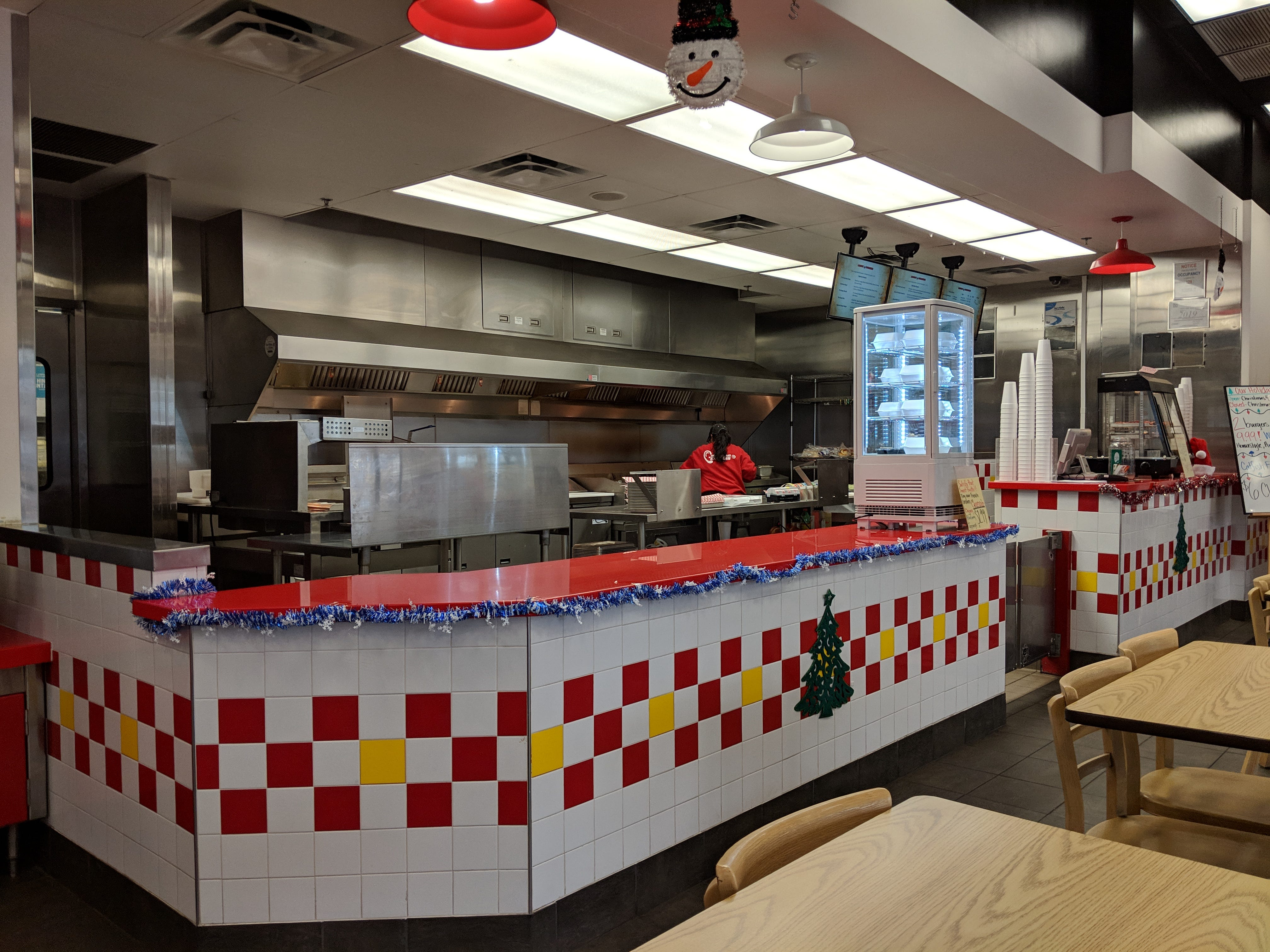Inside Angus Burger.