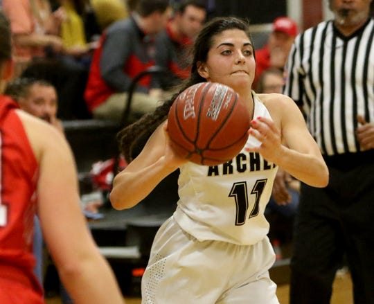Archer City sophomore Delaini Hanna is one of several underclassmen helping lead the Lady Cats to the top of District 9-2A.