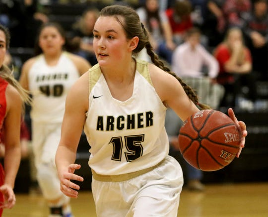 Aspyn Huseman and the Archer City Lady Cats debut in the TRN Top 10 after defeating rival Windthorst last week.