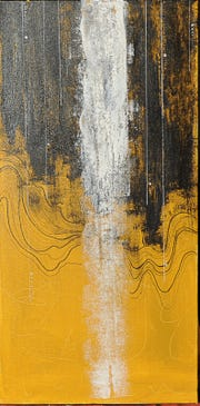 "Abstract painter Danielle Janecek's first solo show opens today at the The Galleria at the Forum and will run through Feb. 24, 2019. The piece, ""Waterfall,"" is shown."