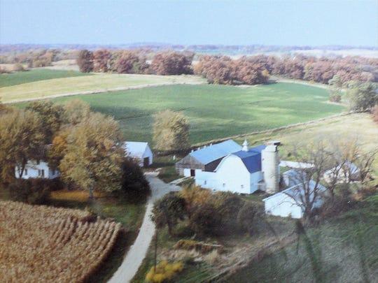 The Oncken farm in its heyday....Santa always found it.