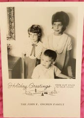 Although the card featuring Laurel, Lynne and John C. Oncken is decades old, it's still appropriate.