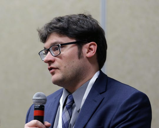 Scott Birrenkott, assistant director of Legal Wisconsin Bankers Association, talks about consideration financial institutions face regarding industrial hemp in Wisconsin.