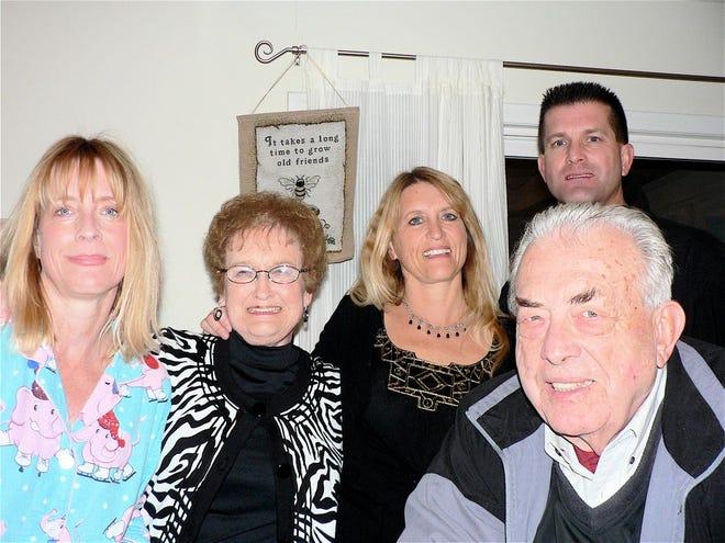 The Oncken family perhaps ten years ago. From left, Lynne, Jan, Laurel, John C. and me.