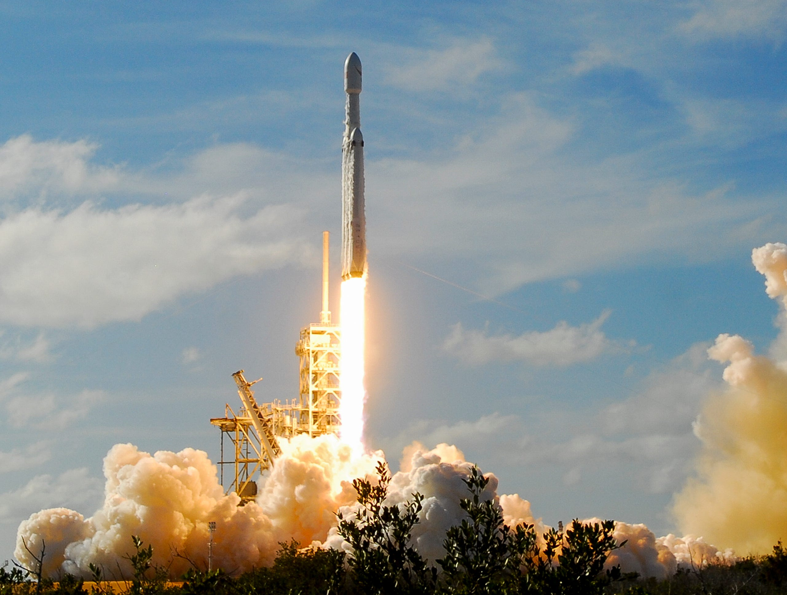 Feb. 6, 2018: SpaceX's newest rocket, the Falcon Heavy, lifts off on it first demonstration flight.
