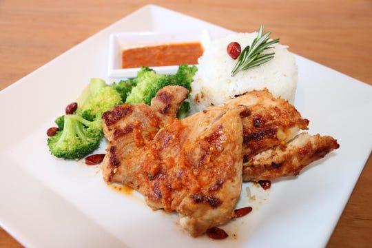 Piri piri chicken is flame-grilled chicken marinated in a hot sauce made from the piri piri pepper.