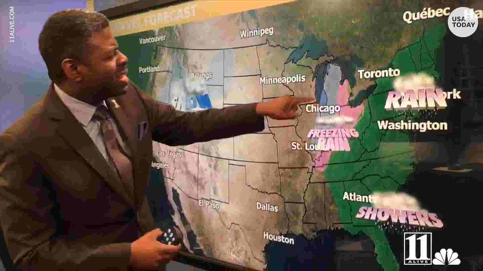 Christmas Travel Weather Forecast Stormy Friday Then Mainly Quiet
