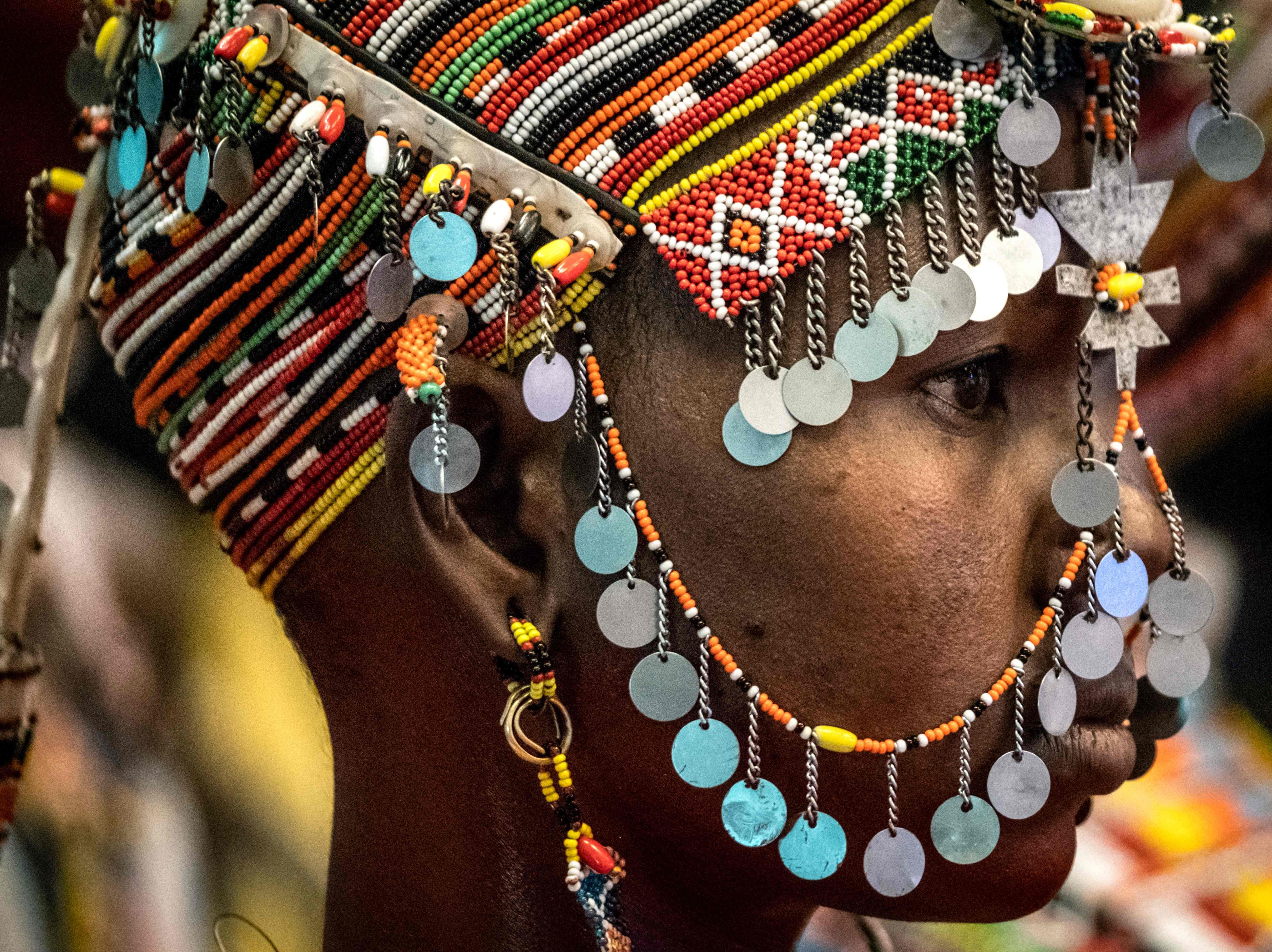 June 20, 2018: A dancer of the Rendille tribe performs during the launching ceremony of the 11th Marsabit-Lake Turkana Cultural Festival in Nairobi, Kenya.