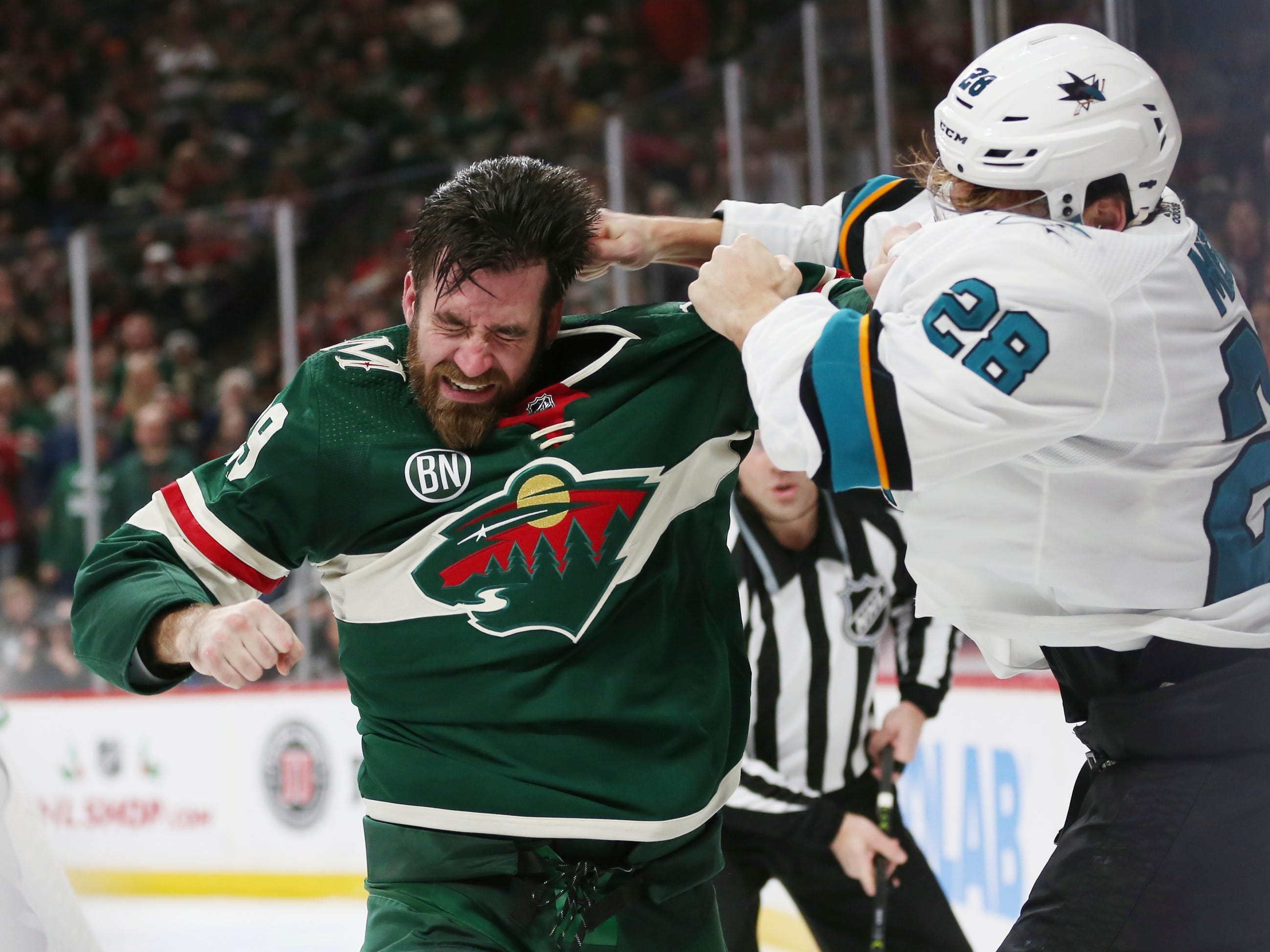 Dec. 18: Minnesota Wild's Greg Pateryn vs. San Jose Sharks' Timo Meier.