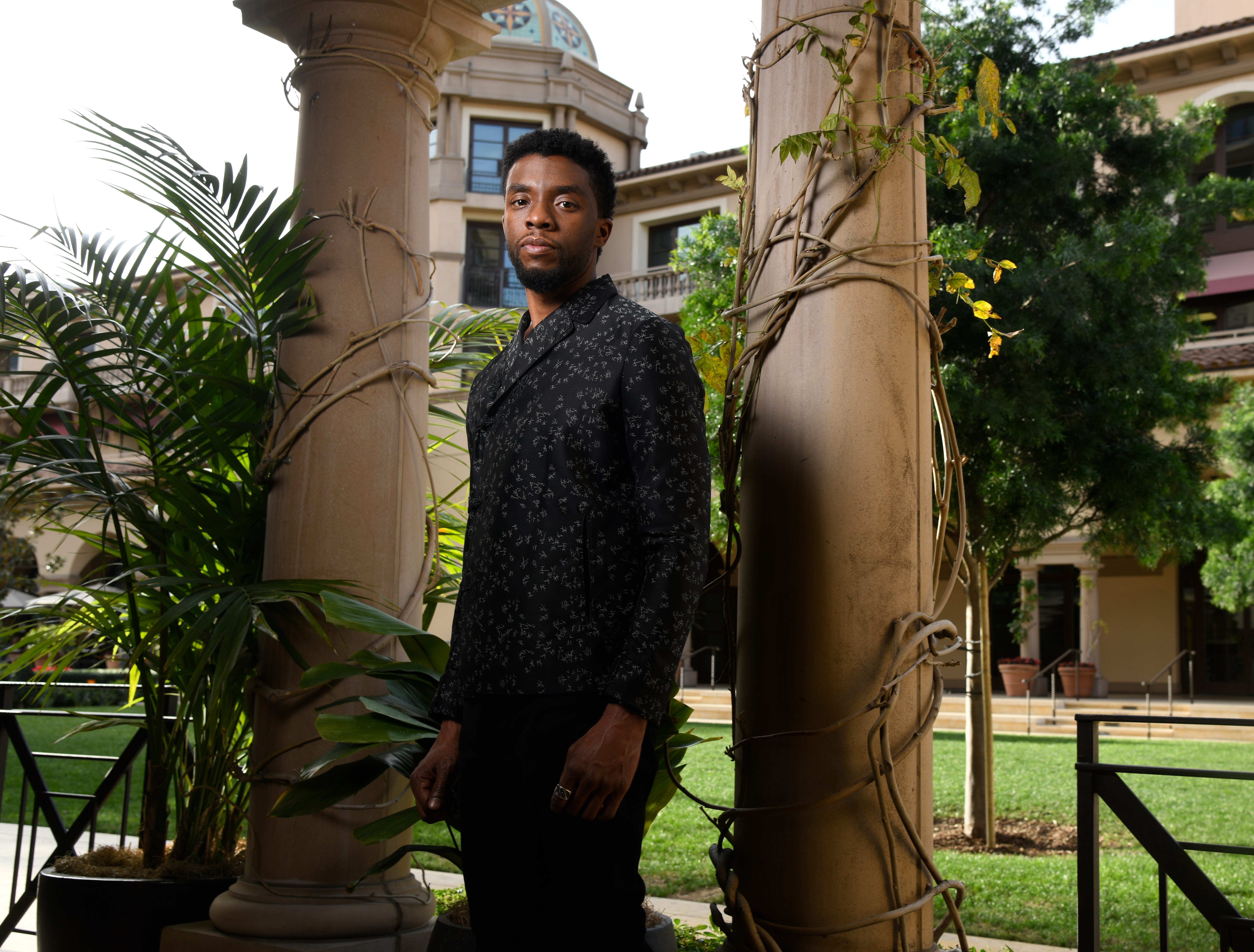 """Jan. 30, 2018: Chadwick Boseman, the breakout star of """"Black Panther"""" poses for a portrait in Los Angeles."""
