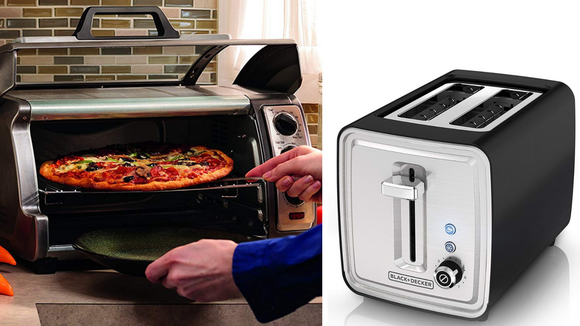 The Hamilton Beach toaster oven and the Black & Decker toaster