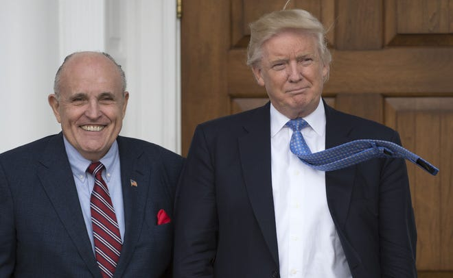 Donald Trump and Rudy Giuliani, Trump National Golf Club, Nov, 20, 2016, Bedminster, New Jersey.