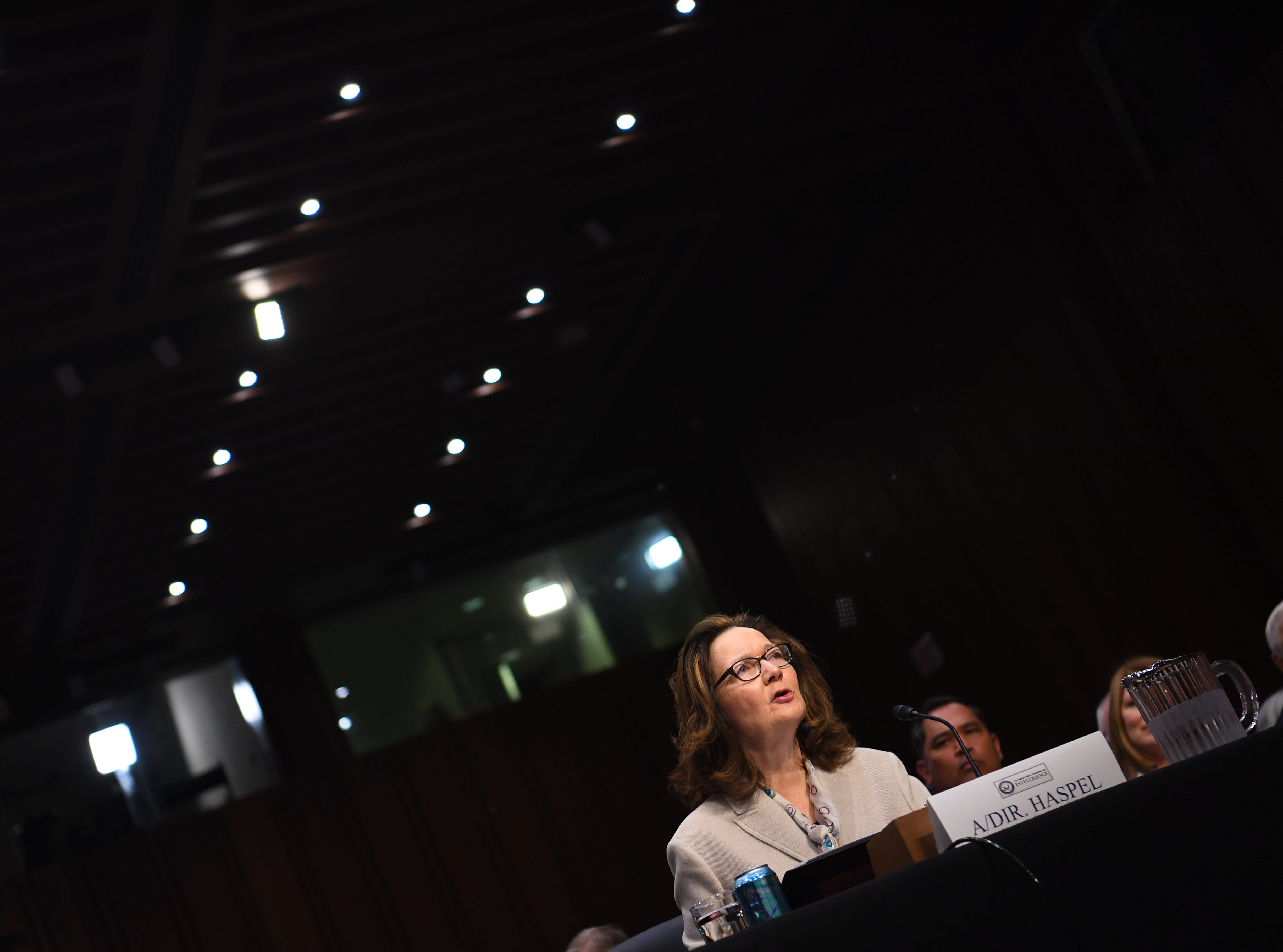 May 9, 2018: Gina Haspel testifies in front of the U.S. Senate Select Committee on Intelligence during her confirmation hearing in Washington. On March 13, 2018 President Trump nominated Haspel to be CIA Director, replacing Mike Pompeo, the current Secretary of State.