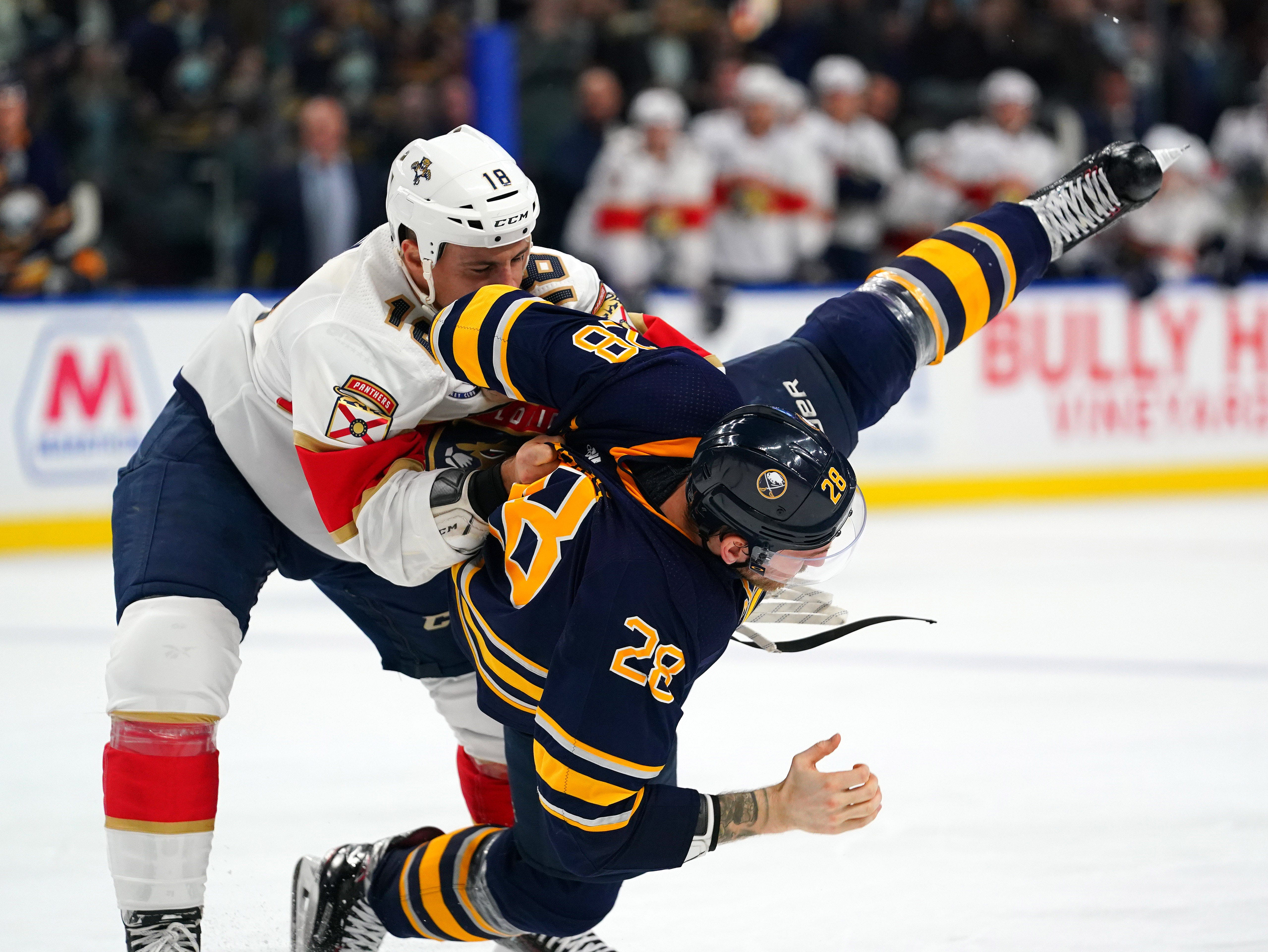 Dec. 18: Florida Panthers' Micheal Haley vs. Buffalo Sabres' Zemgus Girgensons.
