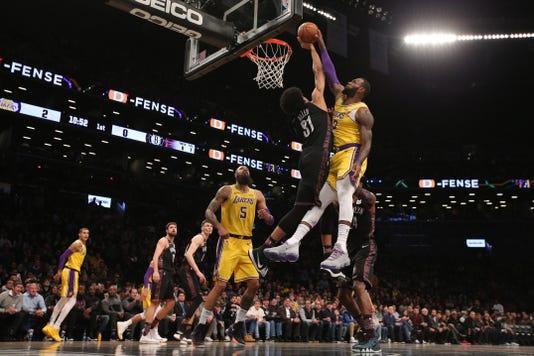 Nba Los Angeles Lakers At Brooklyn Nets