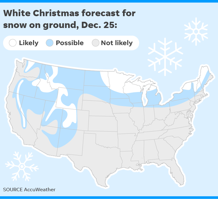White Christmas Forecast.White Christmas Will You See Snow For The Holiday