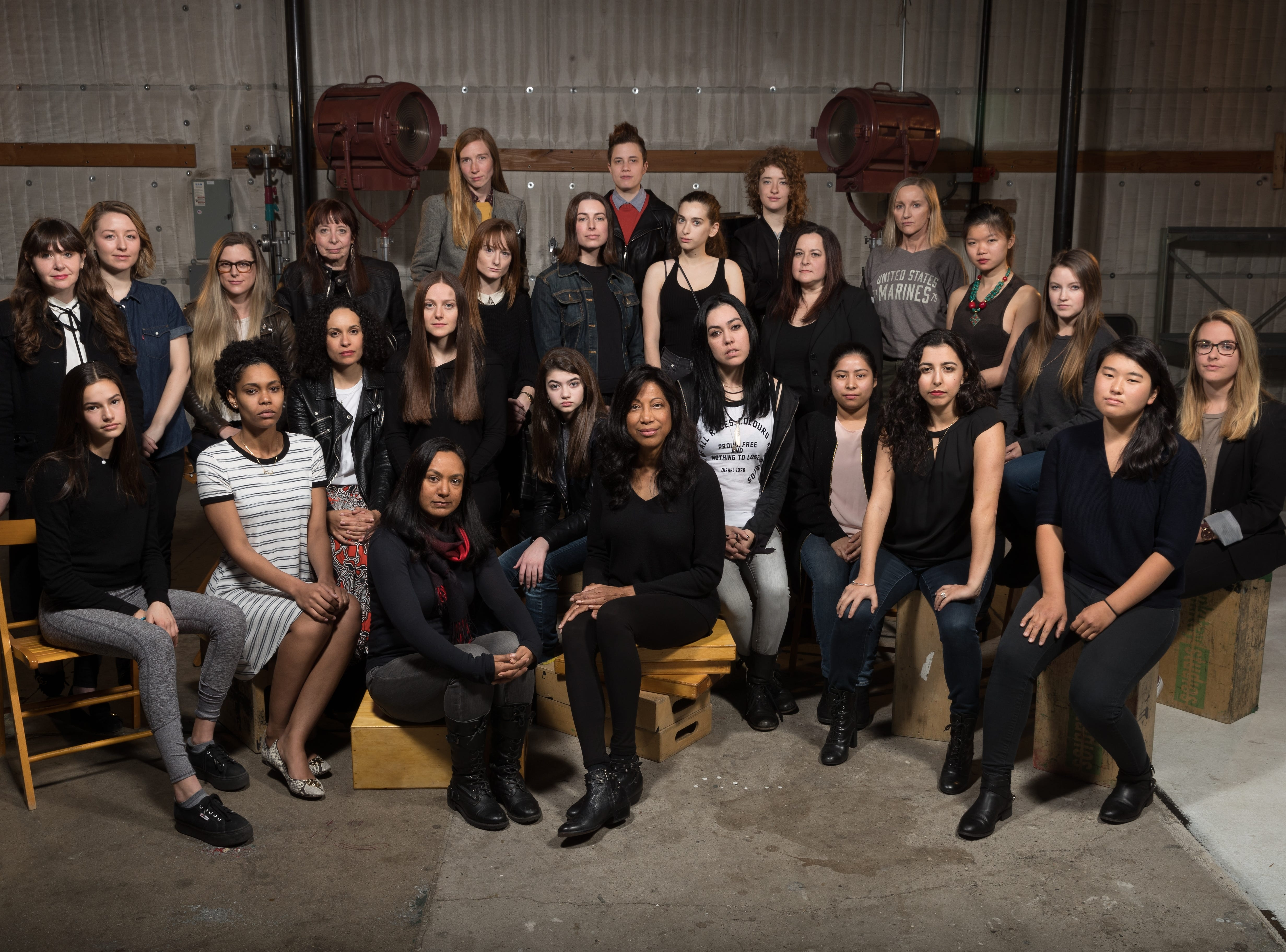 Feb. 20, 2018: Twenty-six women, all of whom say they have experienced sexual harassment, or worse, during their time in movie industry, pose for a portrait on in Los Angeles. A USA TODAY exclusive survey, focused specifically on Hollywood, has found that the entertainment industry's sexual misconduct problem is so bad that almost every one of hundreds of women questioned a startling 94 percent say they have experienced some form of sexual harassment or assault in their careers.