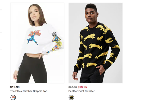 66c26207f Forever 21 was selling these clothes, too, but the officially licensed  Marvel