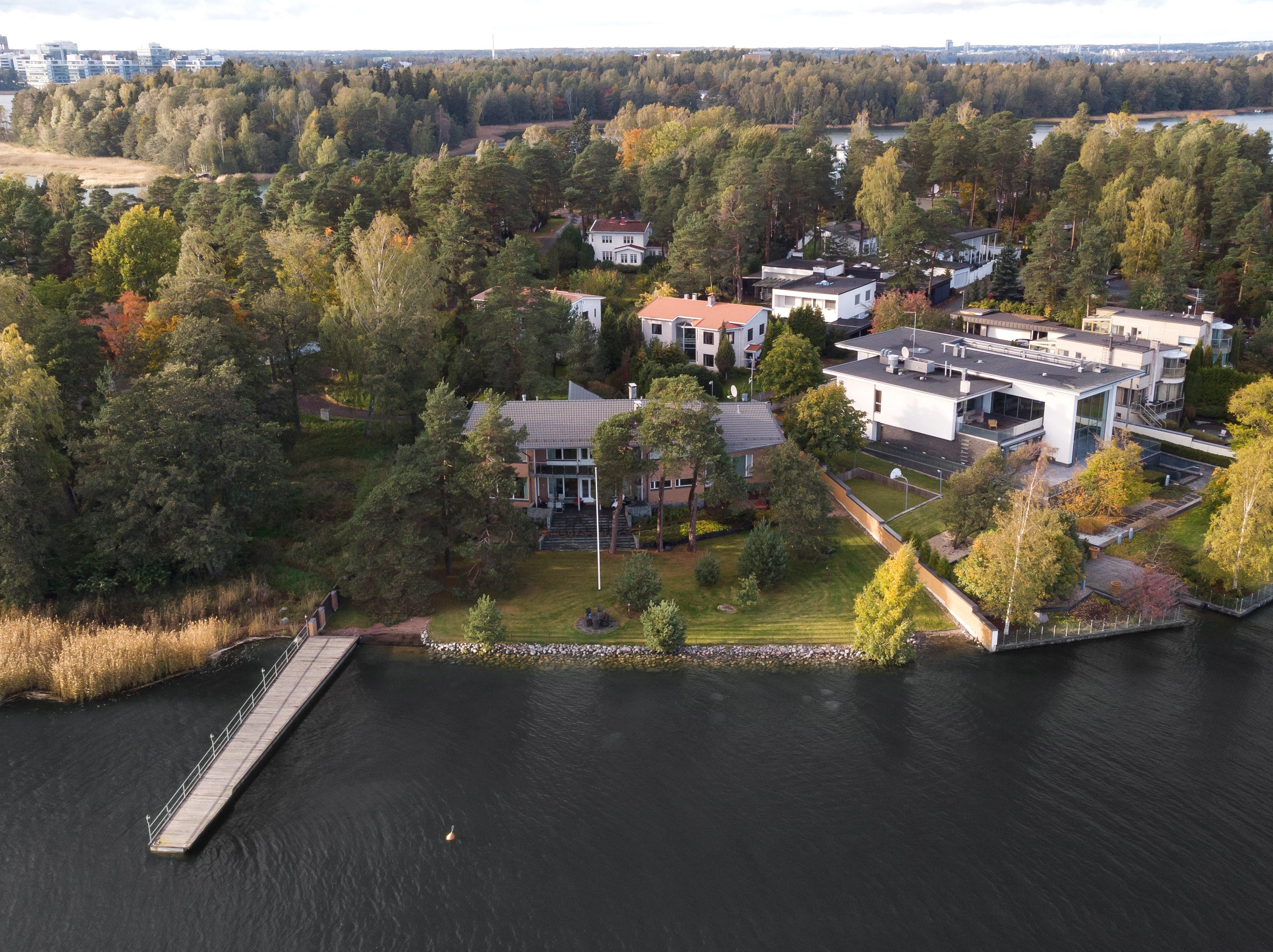 This $5 million house in Helsinki has more than 4,000 square feet of space and a waterfront setting.