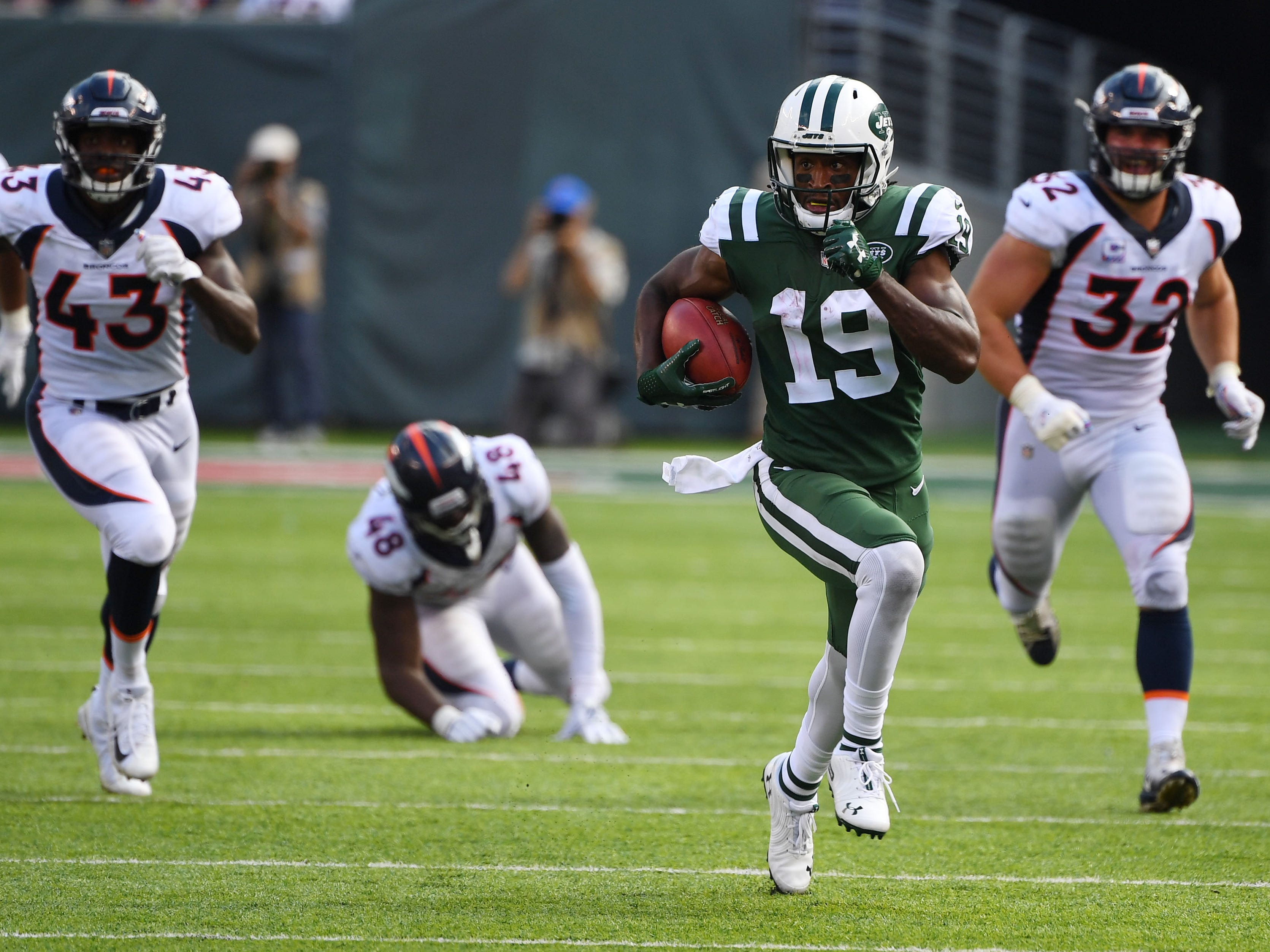 Return specialist - Andre Roberts, New York Jets