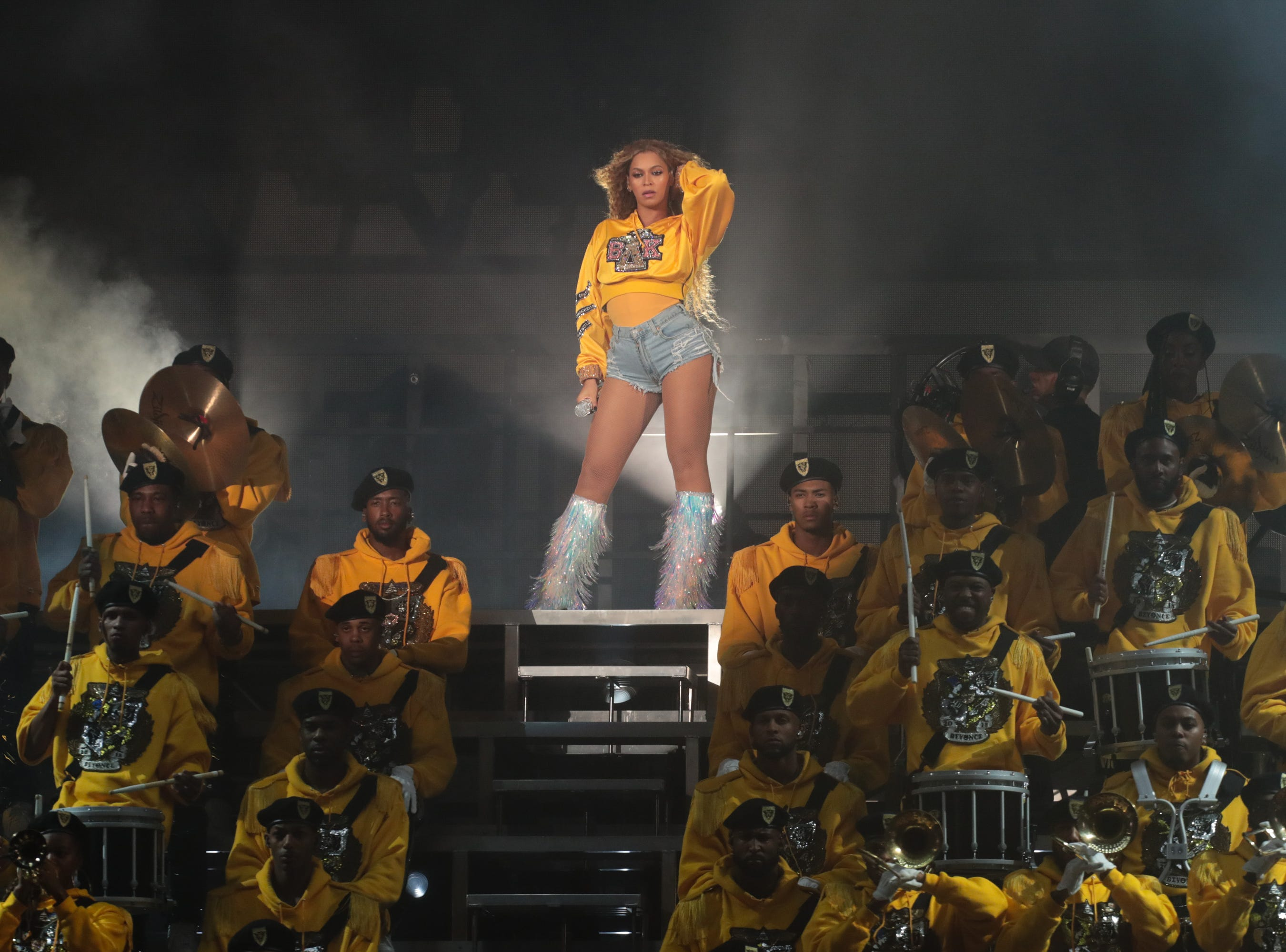 April 14, 2018: Beyonce performs at the Coachella Valley Music and Arts Festival at Empire Polo Club.