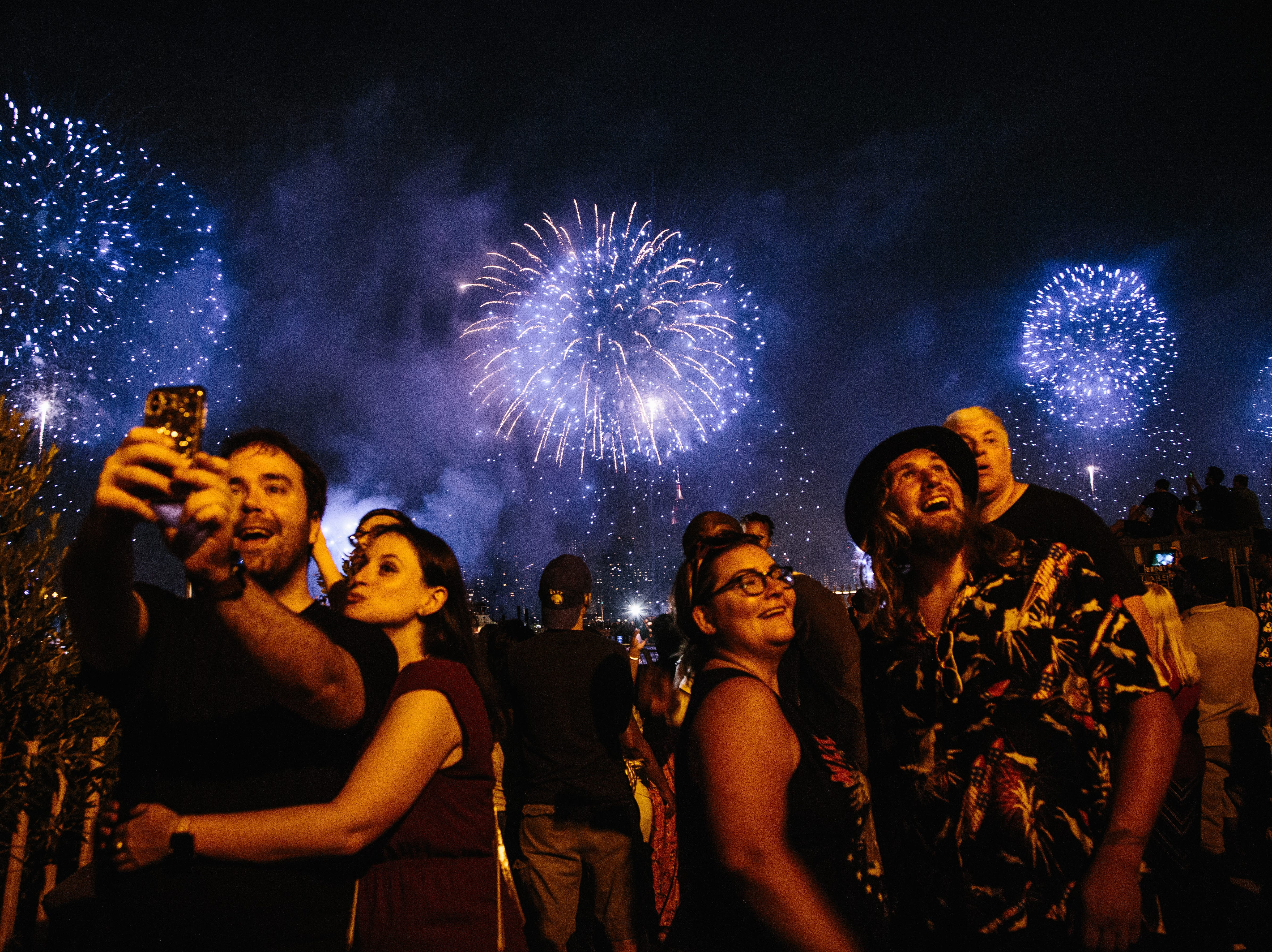 July 4, 2018: Fireworks explode over the East River as part of an Independence Day celebration in New York City.