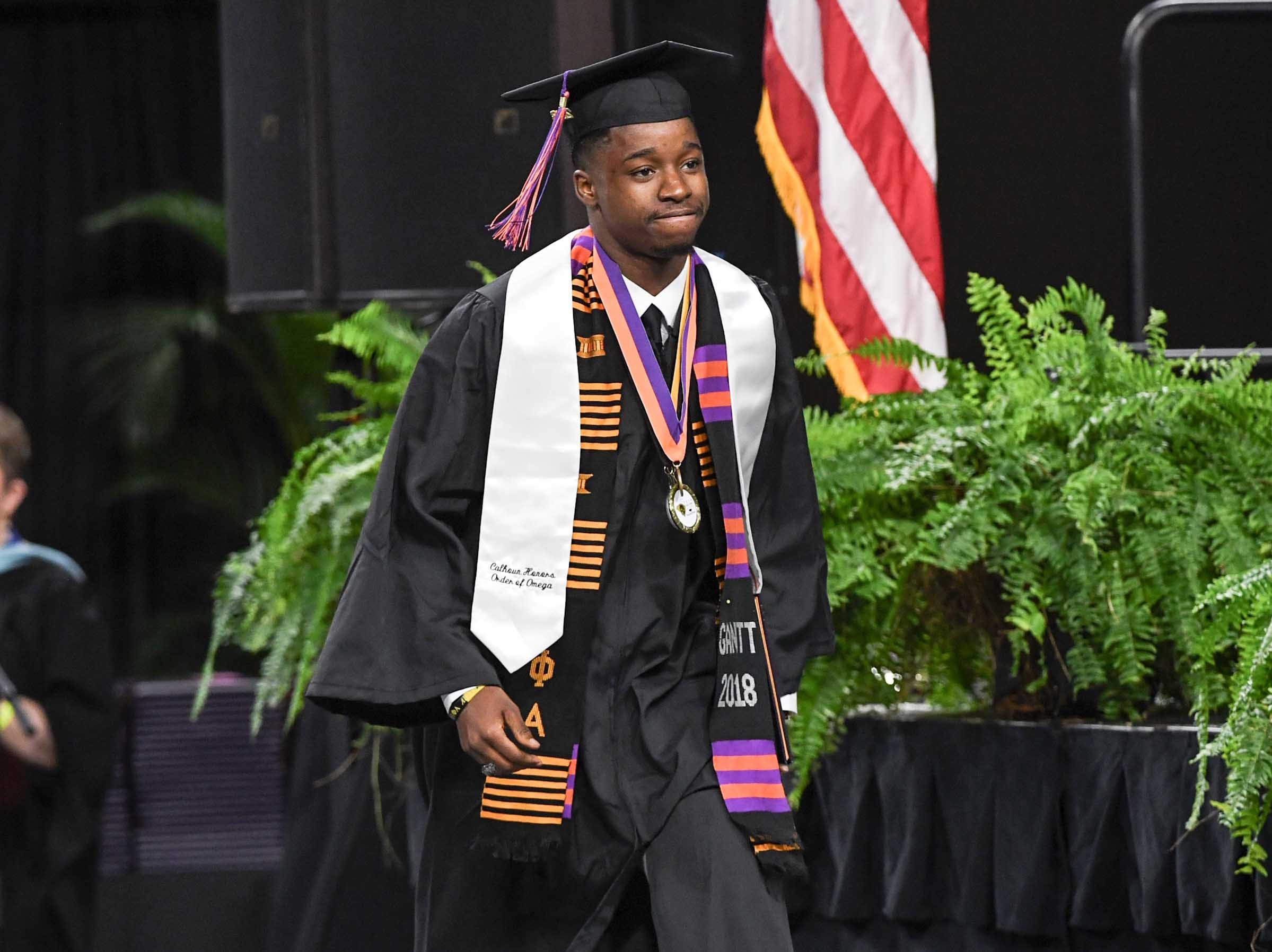 Willie Webb during Clemson University graduation ceremony Thursday morning in Littlejohn Coliseum in Clemson.