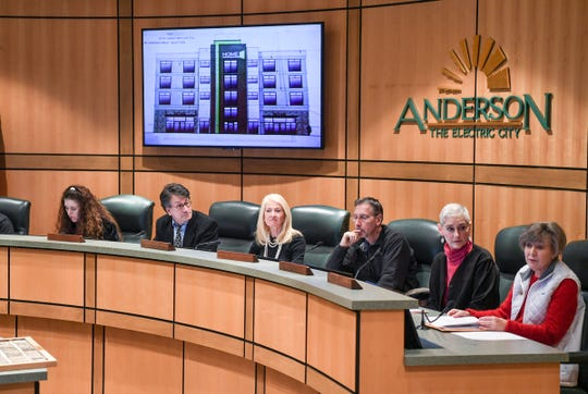 Anderson Board of Architecture Review approve Home2 Suites by Hilton during a meeting in the City Hall Chamber in downtown Anderson Wednesday.