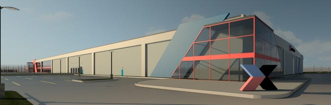 A rendering shows the new headquarters of Excellerate Manufacturing.