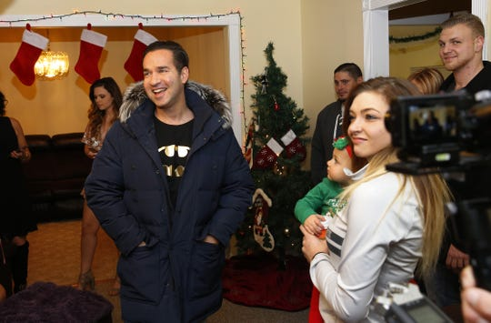 "Mike""The Situation "" Sorrentino of MTV's Jersey Shore fame visits Phoenix Recovery house to speak to guests attending the annual Christmas party. Eatontown, N.J.  Wednesday, December 19, 2018 Noah K. Murray-Correspondent/Asbury Park Press"