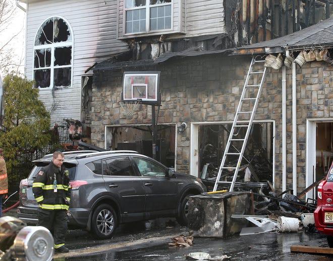 Scene of fire at 37 Barn Swallow Road in Marlboro, NJ Thursday December 20, 2018.