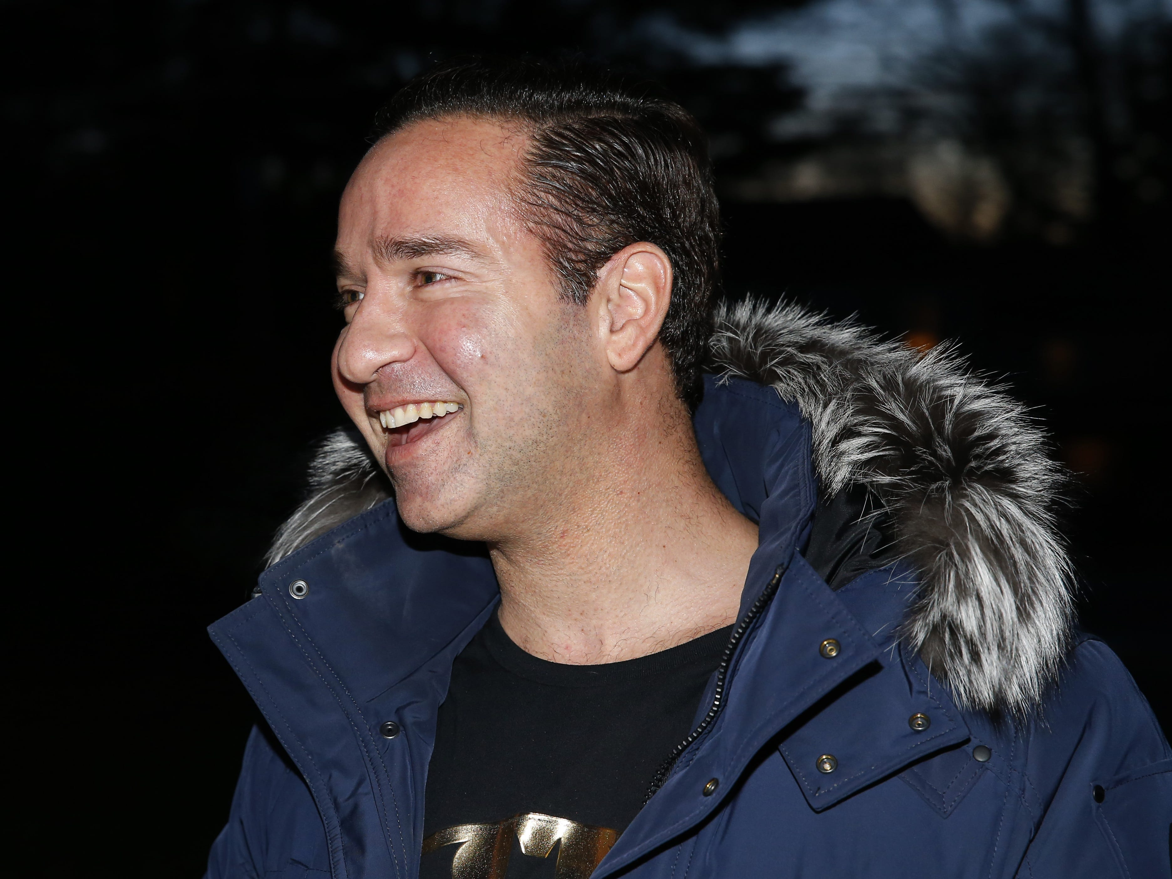 """Mike""""The Situation """" Sorrentino of MTV's Jersey Shore fame visits Phoenix Recovery house to speak to guests attending the annual Christmas party. Eatontown, N.J.  Wednesday, December 19, 2018 Noah K. Murray-Correspondent/Asbury Park Press"""