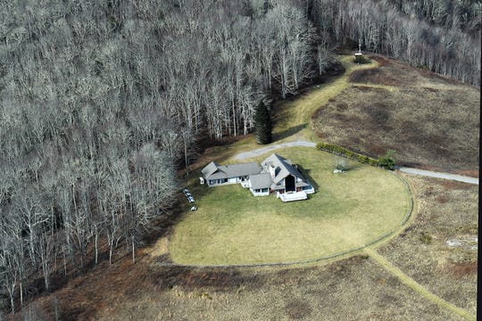 The Appalachian Highlands Science Learning Center on Purchase Knob is seen from the air on Dec. 6, 2018. Photo made possible by SouthWings.