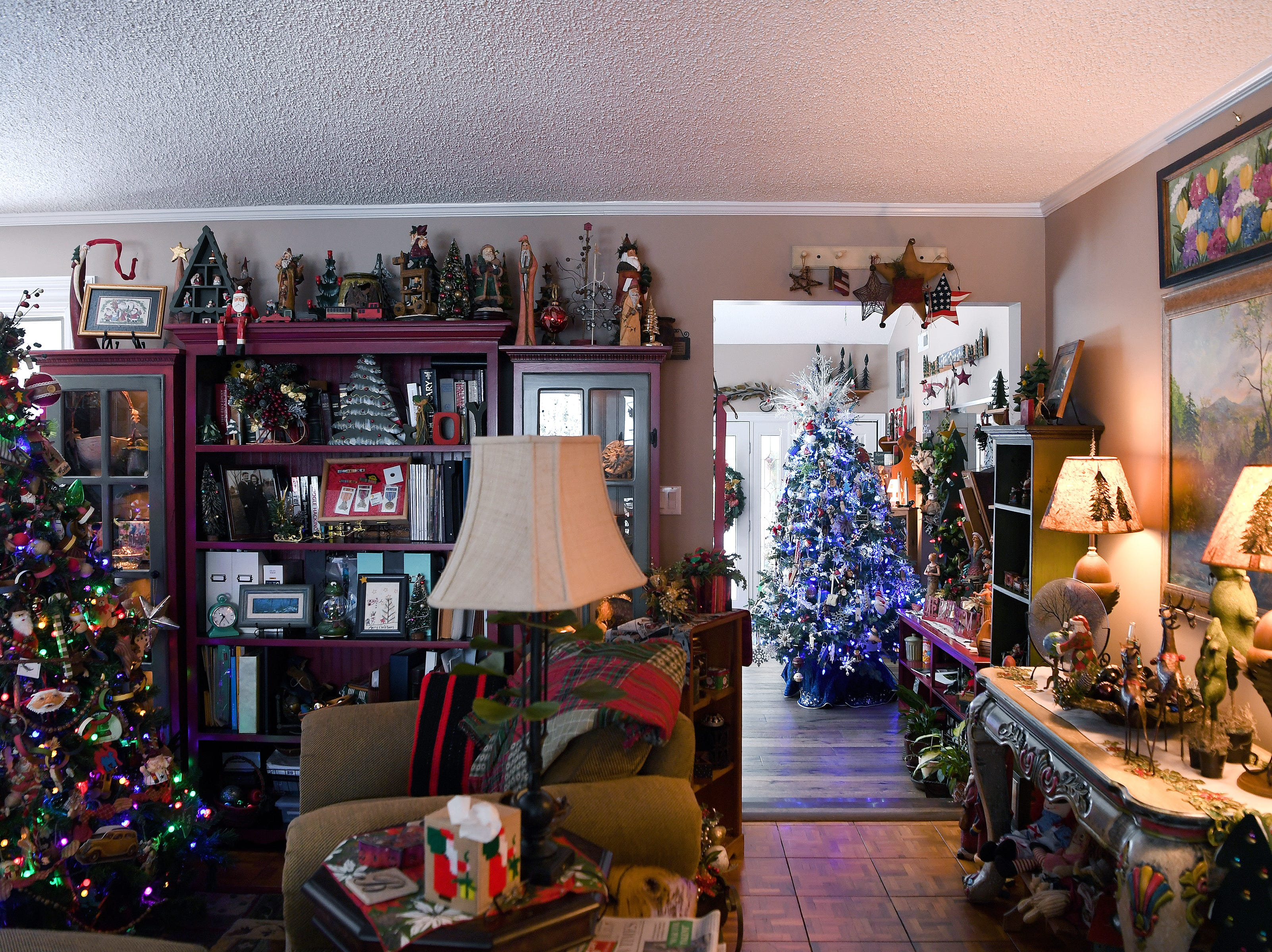 Phyllis Bryan began decorating for Christmas this year on the 23rd of November and will leave her decorations up until around Super Bowl Sunday. It usually takes her about a week to decorate her whole house.
