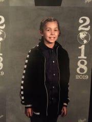 Jariah Durgala, 11, of Binghamton, was struck by a car in October.