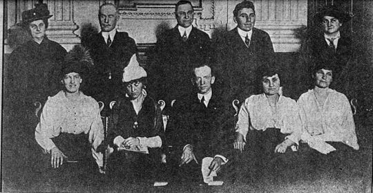 The members of the Municipal Christmas Tree Committee looking very official in 1914.