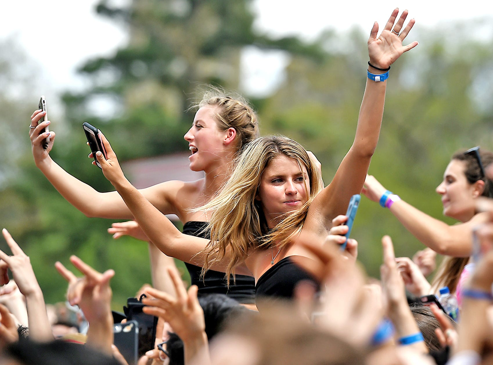 Cornell University students enjoy Slope Day on Thursday, May 10, 2018. A longstanding Cornell tradition which celebrates the end of classes, Slope Day 2018 featured music by Young Bombs, Dreezy and Galantis.