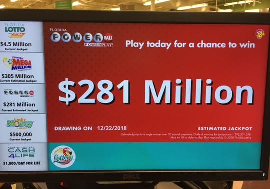 The Powerball jackpot has climbed just before Christmas.