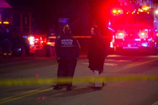 A pedestrian was struck on North Avenue in Burlington late in the afternoon on Thursday, Dec. 20, 2018.