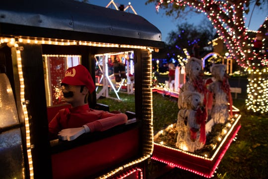 Mr. Bill's Christmas at his home on Hampton Street on Wednesday, Dec. 19, 2018. For 20 years Mr. Bill has decorated his home with an elaborate display of Christmas decorations.