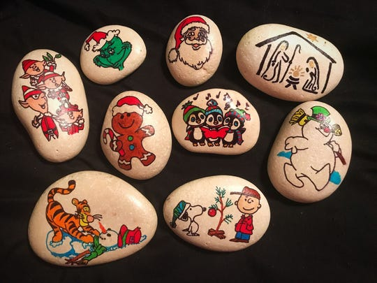 More than a hundred Christmas-themed rocks can be found all around Rockport-Fulton this holiday season?
