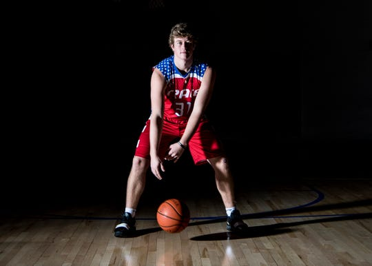 Zane Trace varsity basketball player junior Luke Johnson is one of the team's top rebounders as he is one of the most physical guys inside the paint.