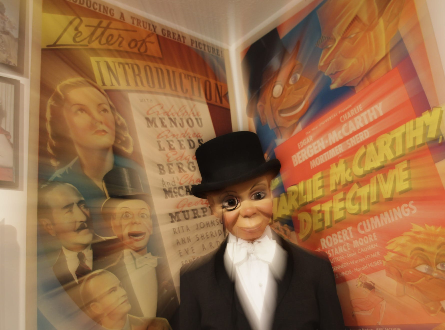 An area of the Vent Haven Museum pays homage to Edgar Bergen and Charlie McCarthy.