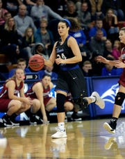 Madison Temple was a big factor in the latest Thomas More University postseason game against Trine.