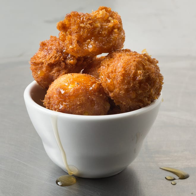 It is important to not make the balls too big before frying them.