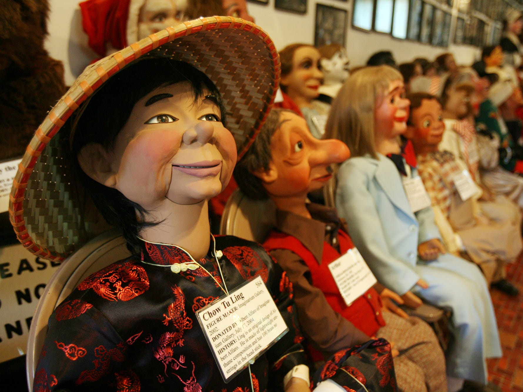 Some of the hundreds of dolls in the museum. Vent Haven Museum, the world's only museum of ventriloquial figures and memorabilia in Fort Mitchell, Kentucky.