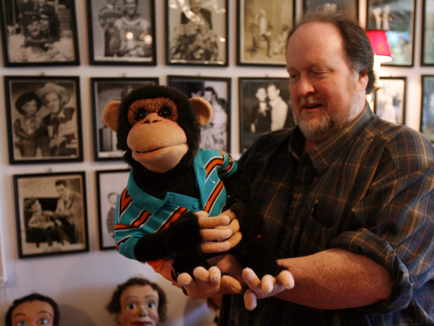 Tom Ladshaw, a ventriloquist and member of the board of advisers of Vent Haven Museum in Fort Mitchell. Ladshaw producedg the museum?s second annual Double Talk featuring Ronn Lucas. File photo